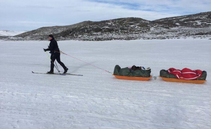 Groenland - paa indlandsisen