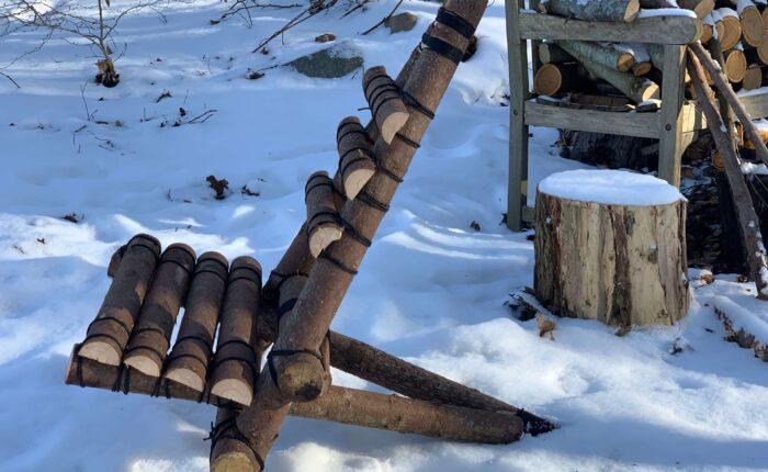 Vildmarksstol vinter